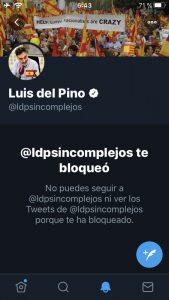 Luis del Pino me bloquea
